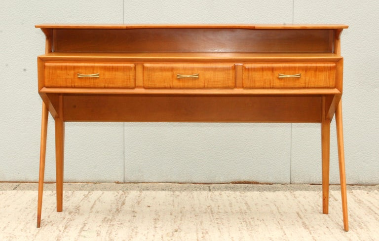 Mid-Century Modern Italian Sculptural Two-Tier Console For Sale 3