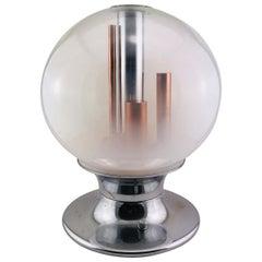 Mid-Century Modern Italian Selenova Table Lamp in Murano Glass, 1970s