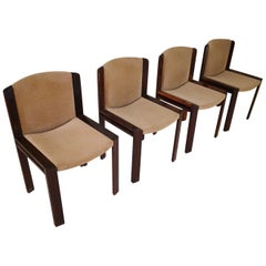 Mid-Century Modern Italian Set of 4 Chairs Model 300 by Joe Colombo, 1965