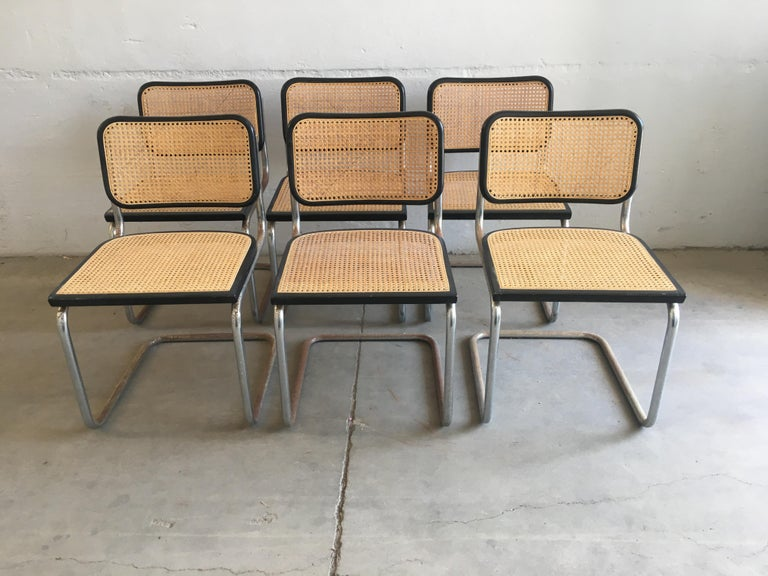 Mid-Century Modern Italian set of 6 chrome
