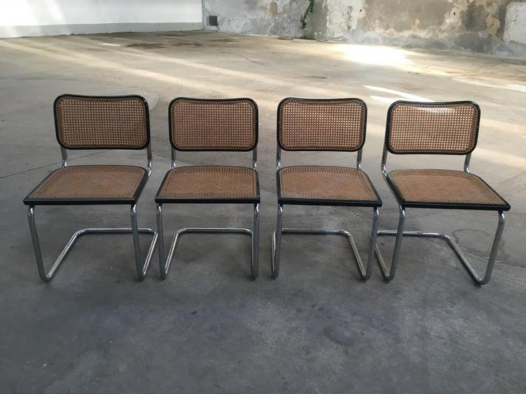 Mid-Century Modern Italian set of 4 chrome