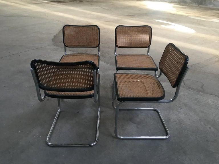 Late 20th Century Mid-Century Modern Italian Set of 4 Chrome