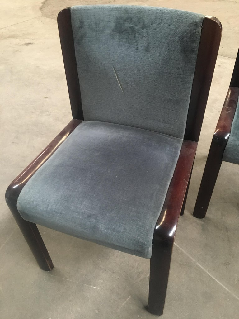 Mid-Century Modern Italian Set of Four Dining Chairs in the Style of Joe Colombo In Good Condition For Sale In Prato, IT