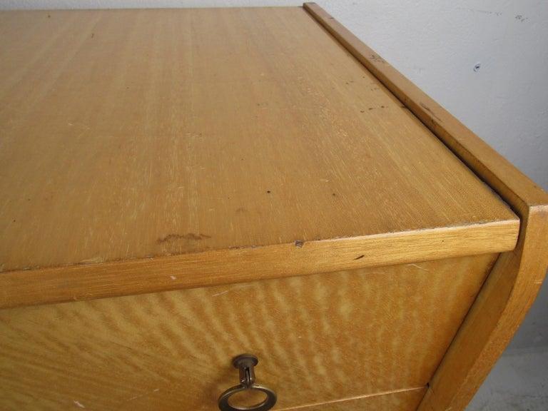 Mid-Century Modern Italian Seven Drawer Highboy Dresser For Sale 3