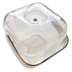 Mid-Century Modern Italian Signed Lucite and Chrome Plate Guzzini Ice Bucket