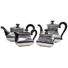 Mid-Century Modern Italian Silver Plated Tea and Coffee Set