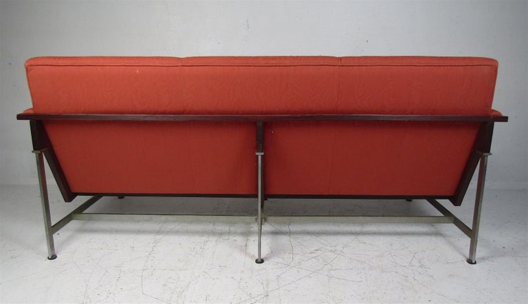 Steel Mid-Century Modern Italian Sofa by Techmo For Sale