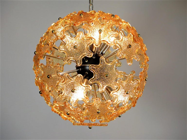 Mid-Century Modern Italian Sputnik Chandelier, Murano Glass In Good Condition In Gaiarine Frazione Francenigo (TV), IT