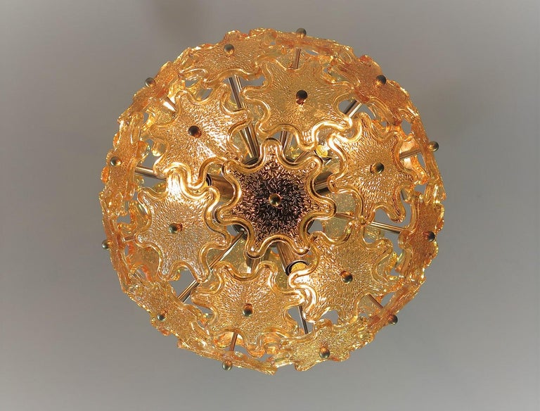 Mid-Century Modern Italian Sputnik Chandelier, Murano Glass 1