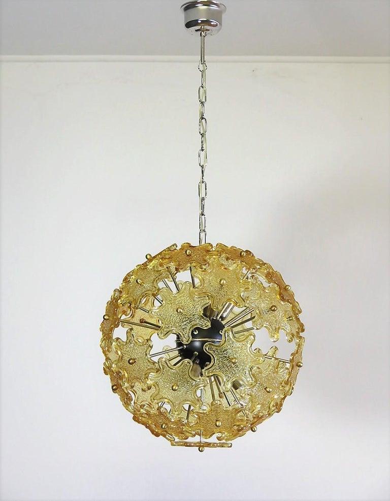 Mid-Century Modern Italian Sputnik Chandelier, Murano Glass 2