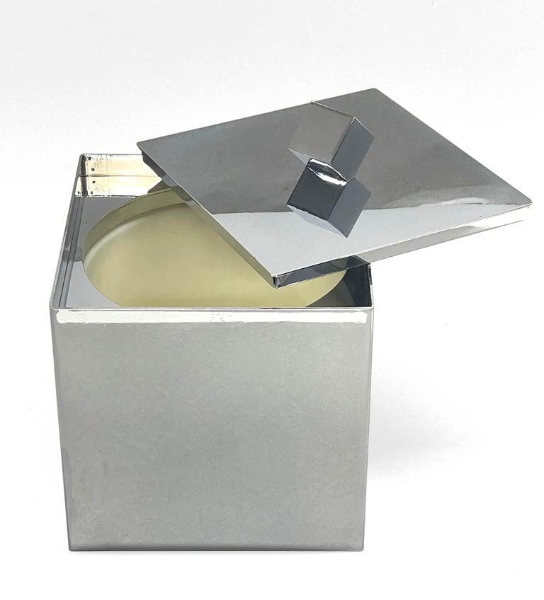 Mid-Century Modern Italian Square Ice Bucket, 1970s For Sale 6