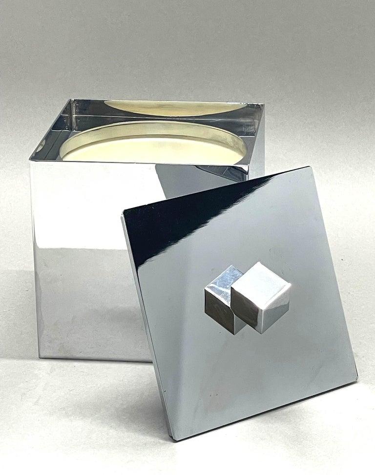 Mid-Century Modern Italian Square Ice Bucket, 1970s For Sale 8