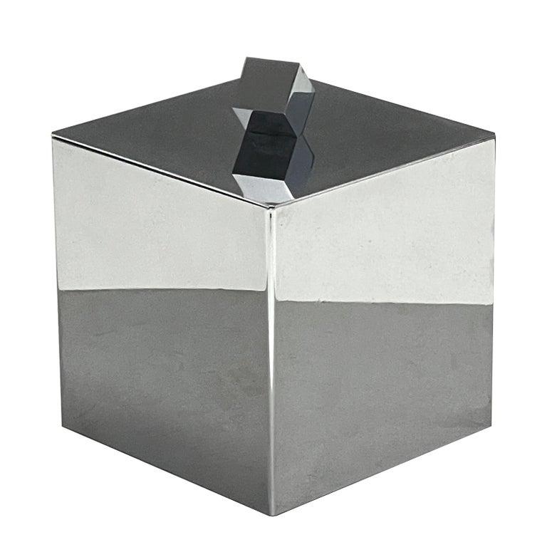 Mid-Century Modern Italian Square Ice Bucket, 1970s For Sale 15
