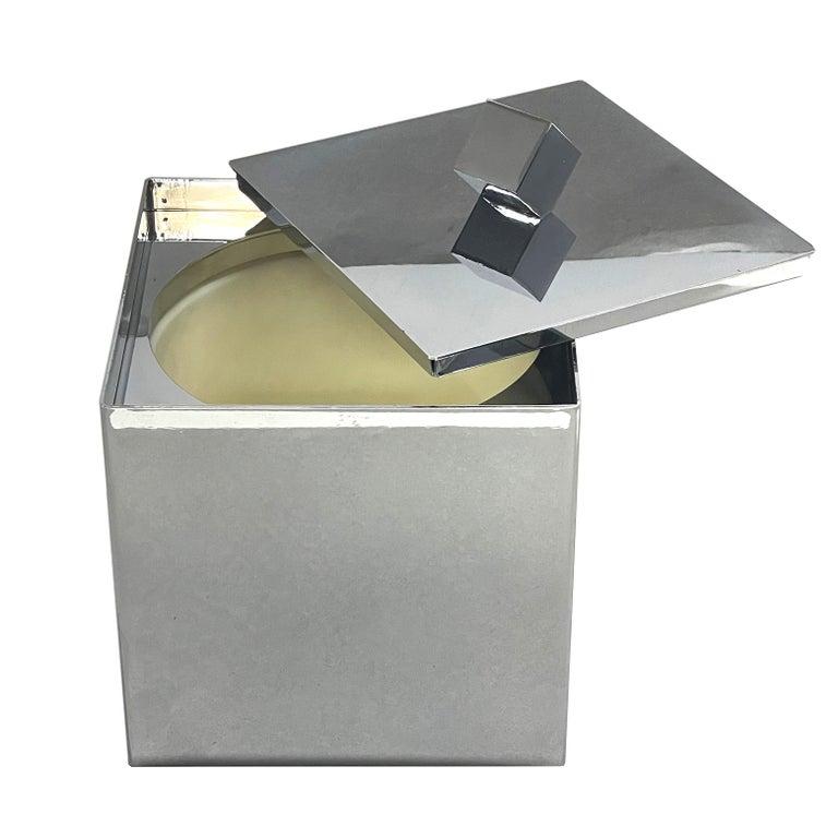 20th Century Mid-Century Modern Italian Square Ice Bucket, 1970s For Sale