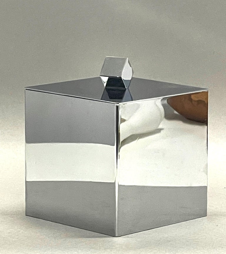 Plastic Mid-Century Modern Italian Square Ice Bucket, 1970s For Sale