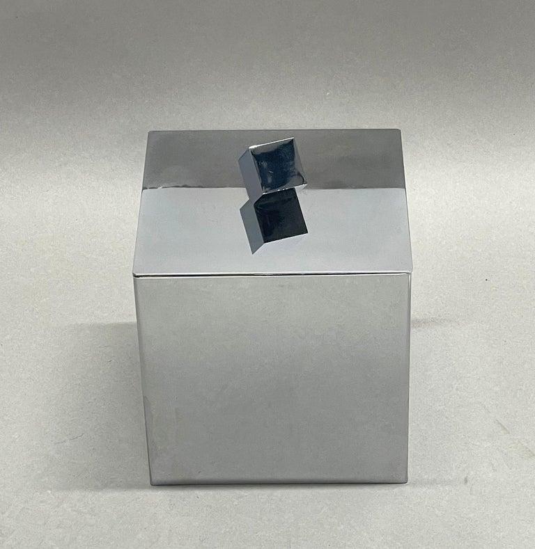 Mid-Century Modern Italian Square Ice Bucket, 1970s For Sale 1