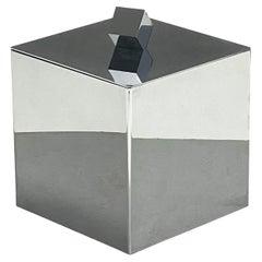 Mid-Century Modern Italian Square Ice Bucket, 1970s