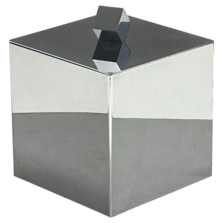 Mid-Century Modern Italian Square Ice Bucket, 1970s For Sale