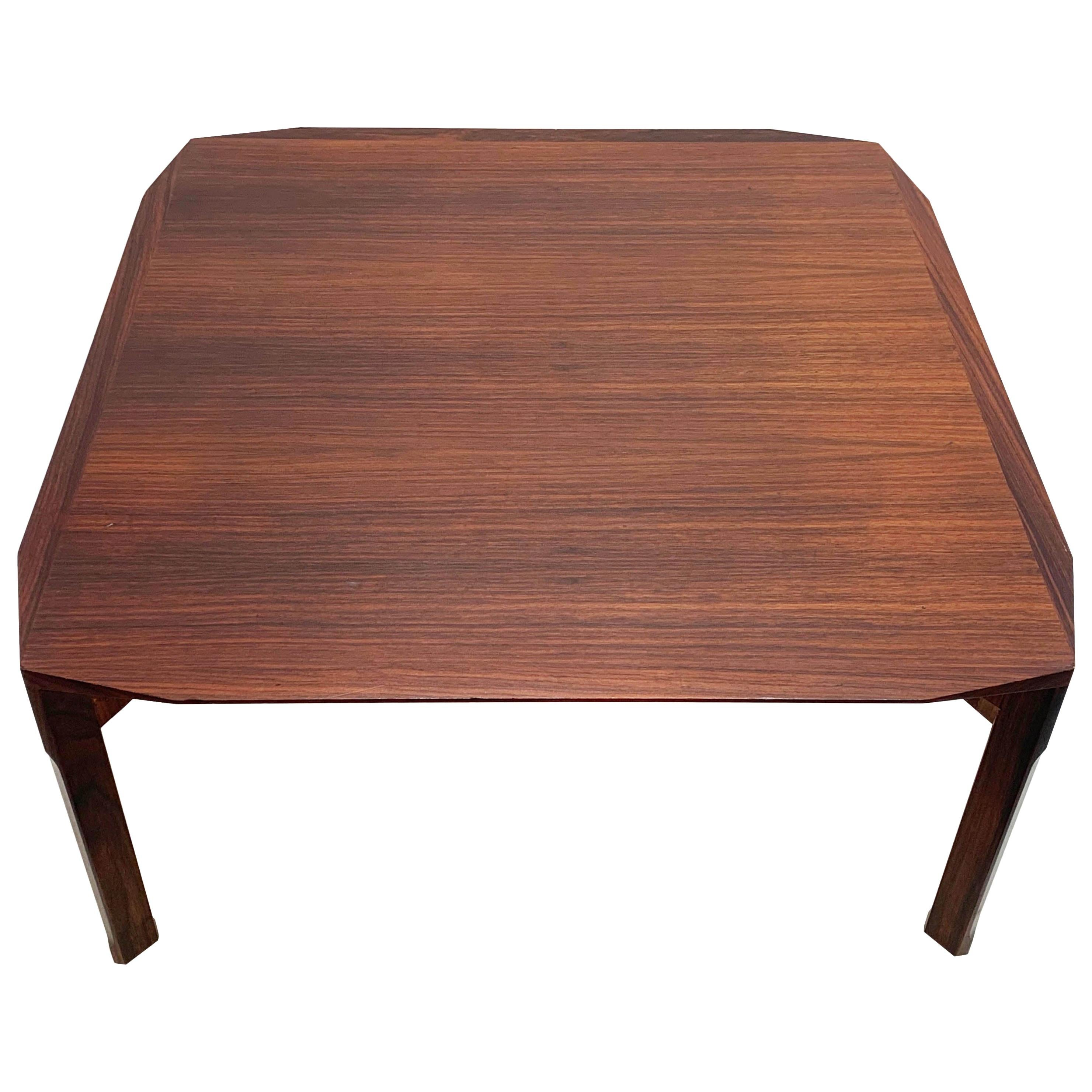 Mid-Century Modern Italian Square Wooden Coffee Table, 1960s