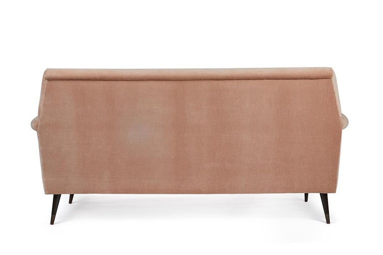 Mid-Century Modern Style Italian Loveseat by Martin and Brockett, Blush Pink In New Condition For Sale In Los Angeles, CA