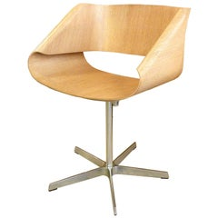 Mid-Century Modern Italian Swivel Bent Plywood Ribbon Chair