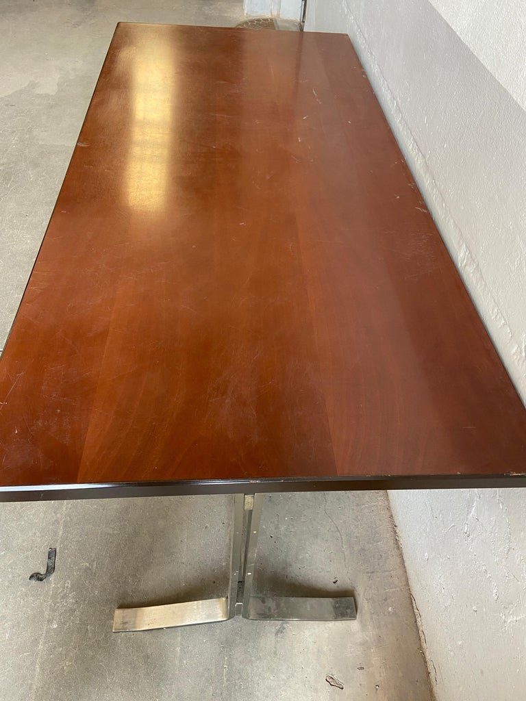 Mid-Century Modern Italian Table with Console by Gianni Moscatelli for Formanova For Sale 5