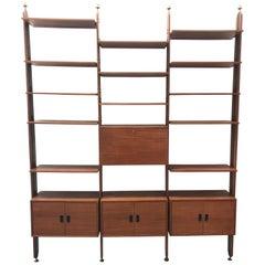 Mid-Century Modern Italian Teak Shelves Bookcase by La Sorgente Dei Mobili, 1960