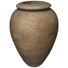 Mid-Century Modern Italian Terracotta Company Bisque Oil Jar