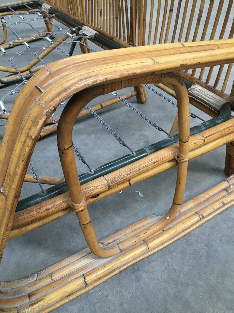 Mid-Century Modern Italian Three-Seat Bamboo Sofa, 1960s 11