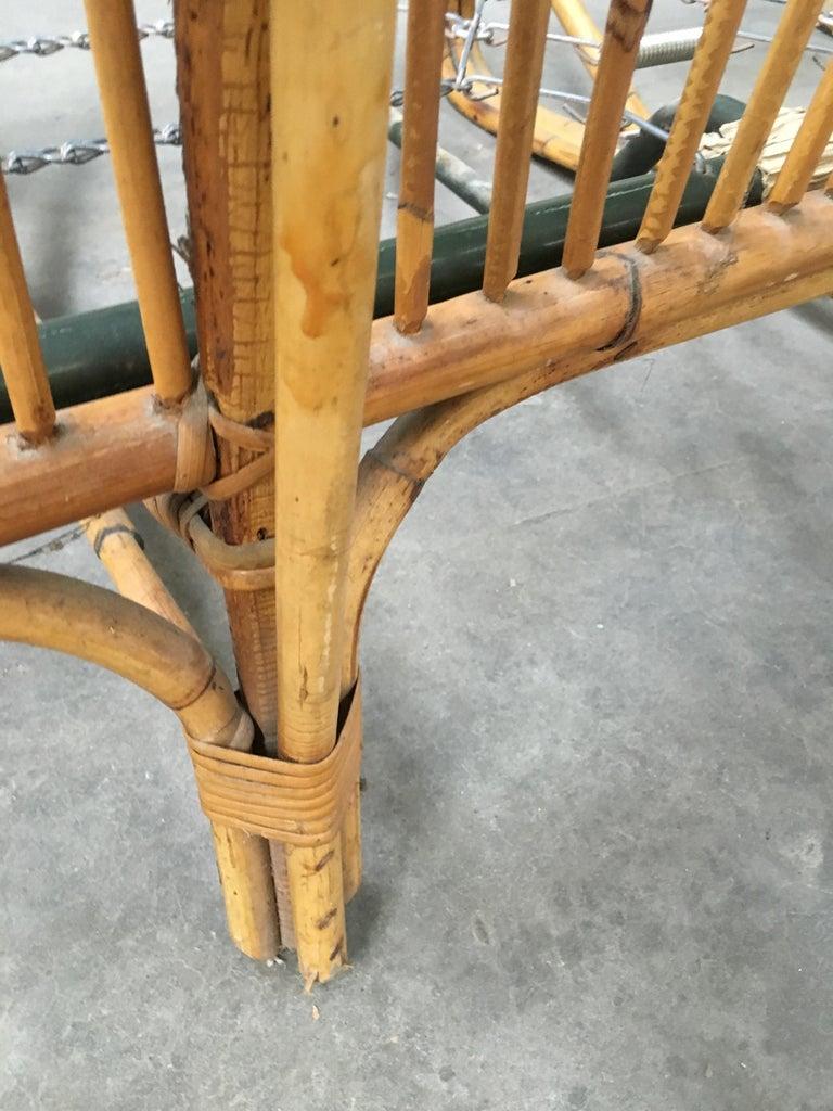 Mid-Century Modern Italian Three-Seat Bamboo Sofa, 1960s 12