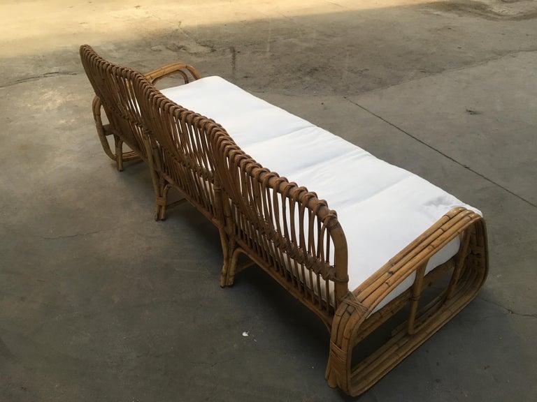 Mid-Century Modern Italian Three-Seat Bamboo Sofa, 1960s 5