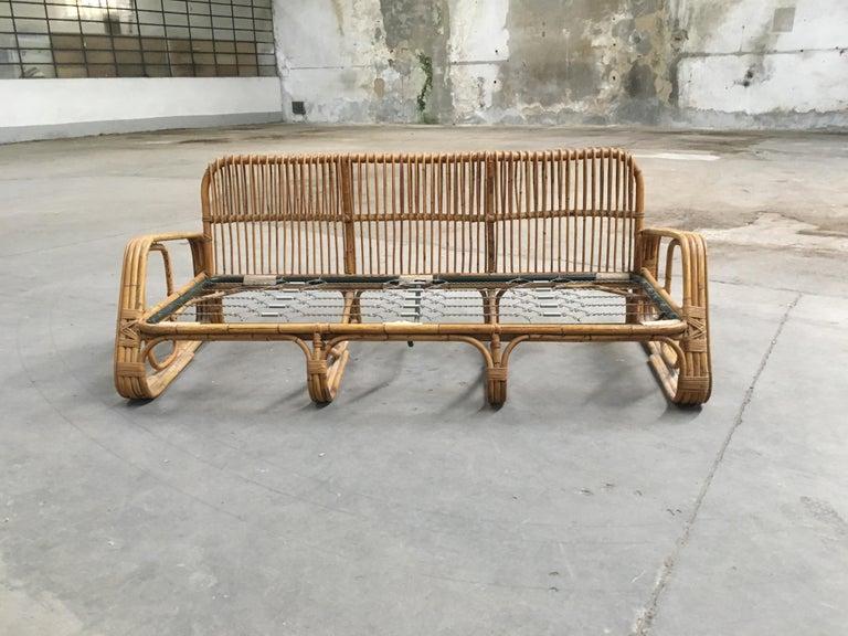 Mid-Century Modern Italian Three-Seat Bamboo Sofa, 1960s 6