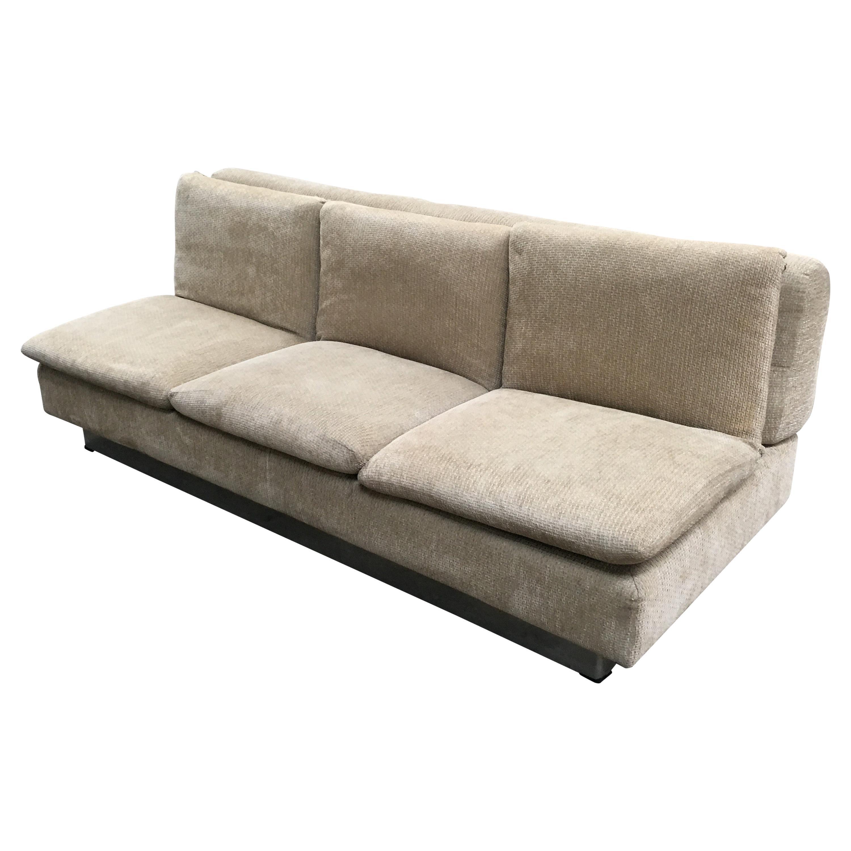 Mid-Century Modern Italian Three-Seat Sofa Bed by Saporiti, 1970s