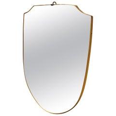 Mid-Century Modern Italian Wall Mirror in the Manner of Gio Ponti, circa 1950