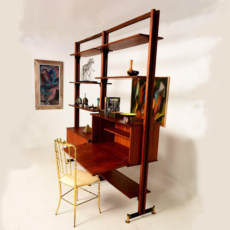 Mid-Century Modern Italian Wall Unit For Sale 3