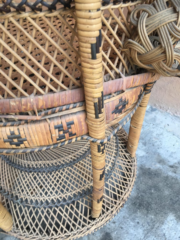 Mid Century Modern Italian Wicker And Rattan Quot Emanuelle