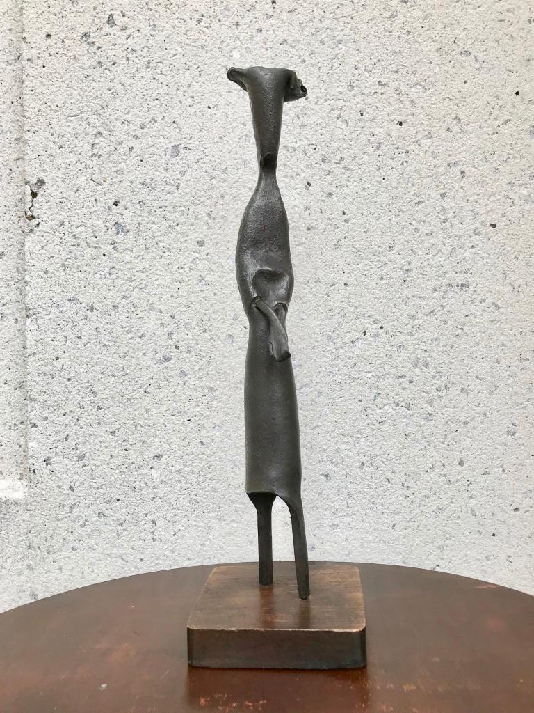 Mid-Century Modern Italian Wrought Iron Sculpture of a Nun For Sale 6