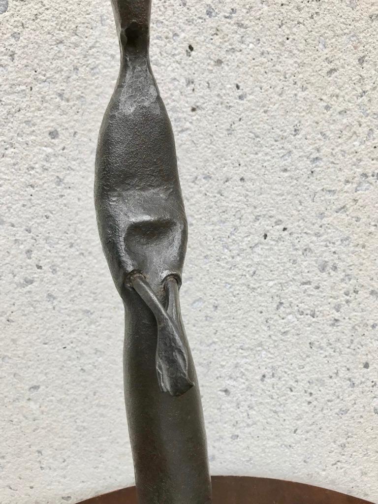 Mid-Century Modern Italian Wrought Iron Sculpture of a Nun For Sale 8