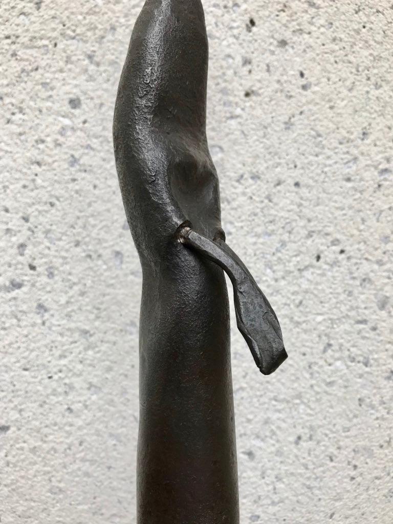 Mid-Century Modern Italian Wrought Iron Sculpture of a Nun For Sale 10