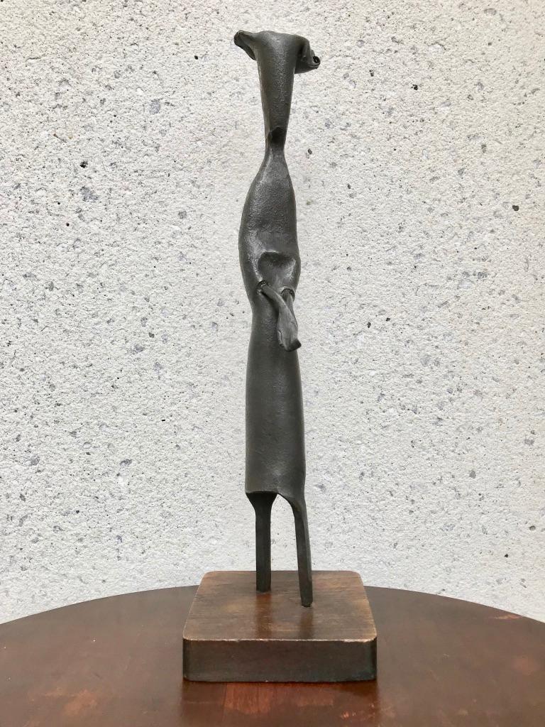 Mid-Century Modern Italian Wrought Iron Sculpture of a Nun For Sale 13
