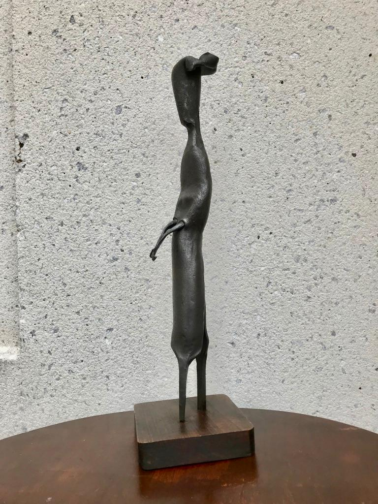 Mid-Century Modern Italian Wrought Iron Sculpture of a Nun In Good Condition For Sale In Stamford, CT