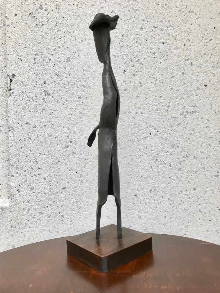 Mid-Century Modern Italian Wrought Iron Sculpture of a Nun For Sale 1