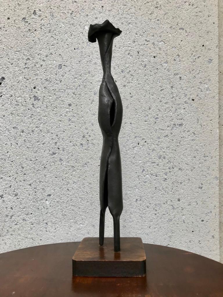 Mid-Century Modern Italian Wrought Iron Sculpture of a Nun For Sale 2