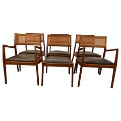 Mid-Century Modern Jens Risom Dining Chairs, Set of Six