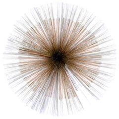 Mid-Century Modern Jere Copper Metal Large Wall Art Sculpture Starburst, 1970s