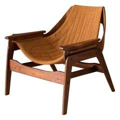 Mid-Century Modern Jerry Johnson Walnut Lounge Chair