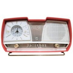 Mid-Century Modern Jetson's Style Philips Time-Mark Clock Radio