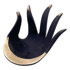 """Walter Bosse, for Herta Baller, """"Black Gold Line"""" Hand in Bronze, 1950s"""