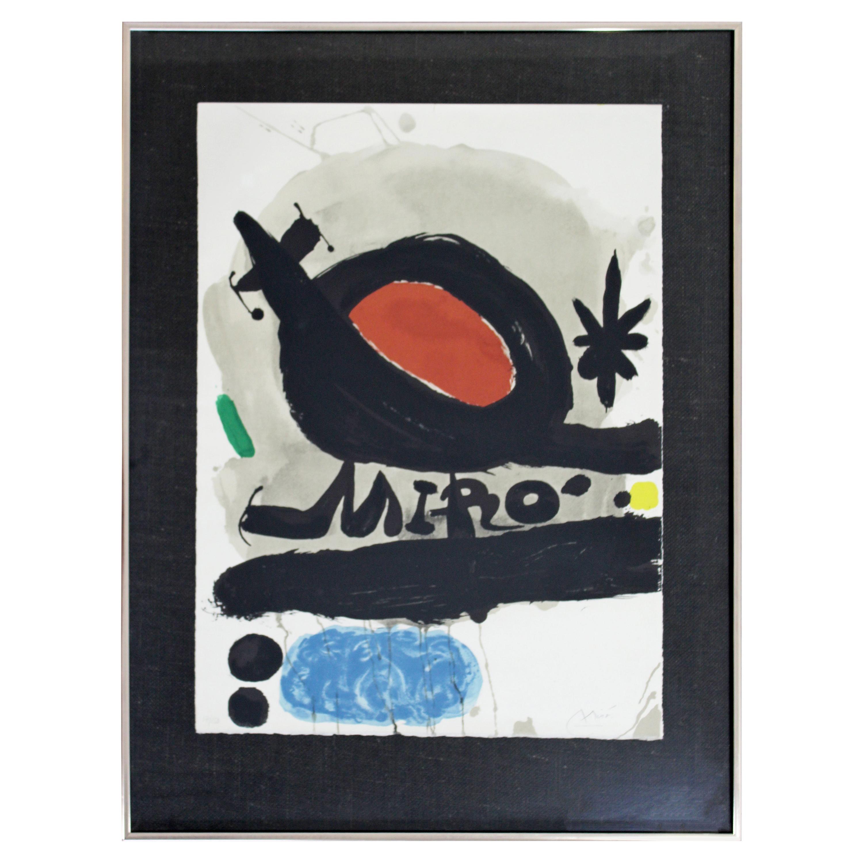 Mid-Century Modern Joan Miró Framed Signed Lithograph L'Oiseau Solaire Lunaire67
