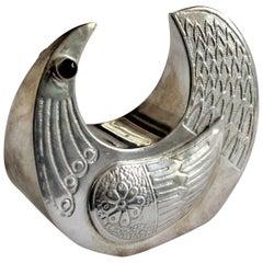 Mid-Century Modern Joaquin Taller Sterling Silver Figural Bird Sculpture